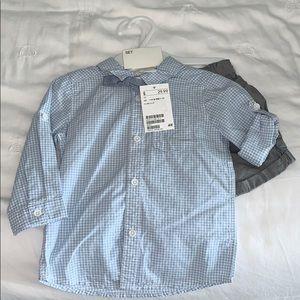 HM NWT Infant Boys Shirt and shirt set 6-9 mo